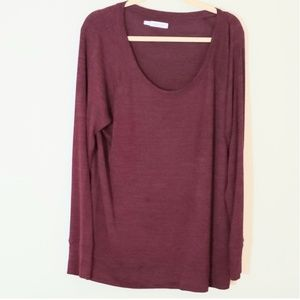 Maurices long sleeve sweater type top Sz 1 red in